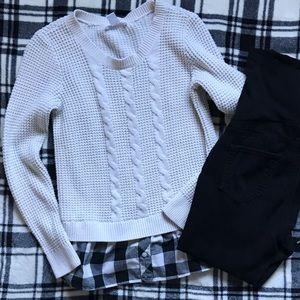 Faux Layered Maternity Sweater